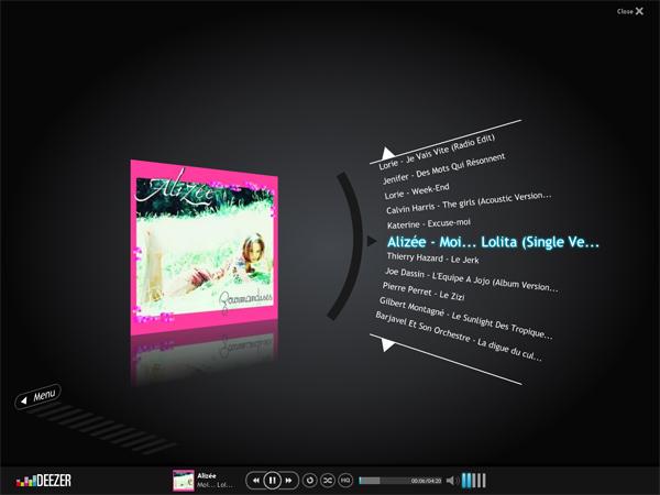 Fullscreen mode sur deezer