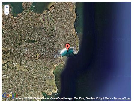 Google map pour la shark week