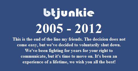 RIP btjunkie